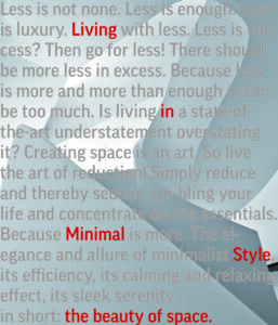 COVER the beauty of space living in minimal style
